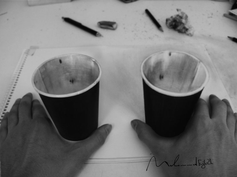 real cup and 3D cup by Muhammad-Ejleh