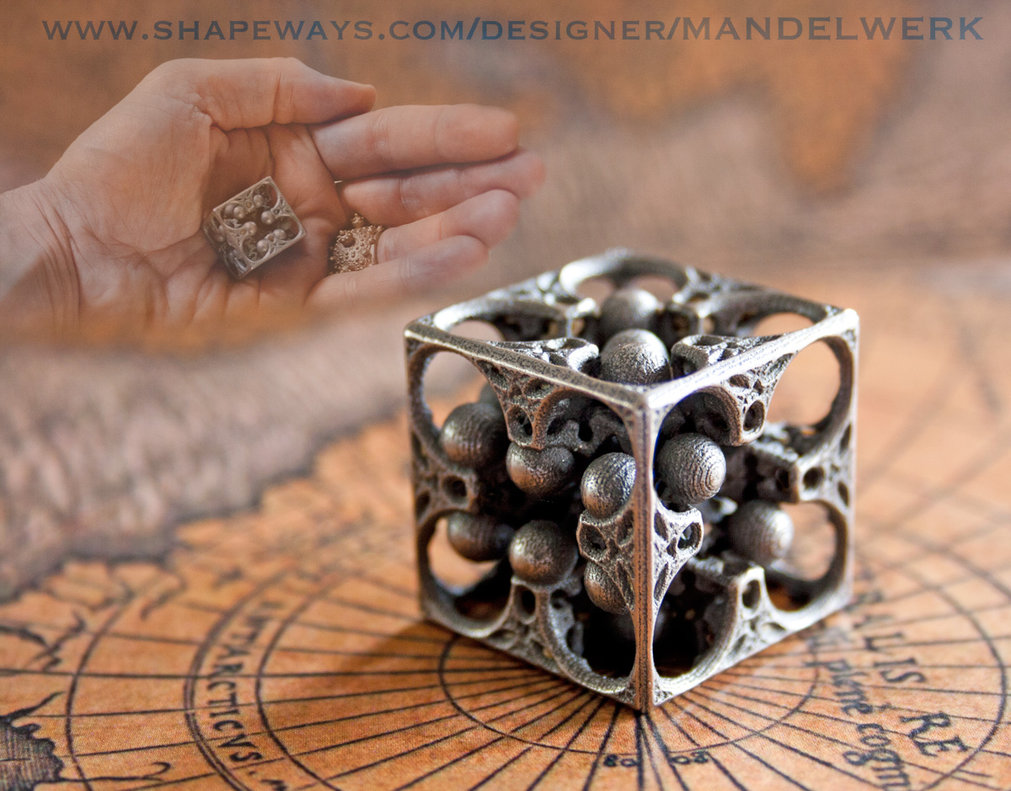 GOD's DICE  -  3D printed in Steel by MANDELWERK