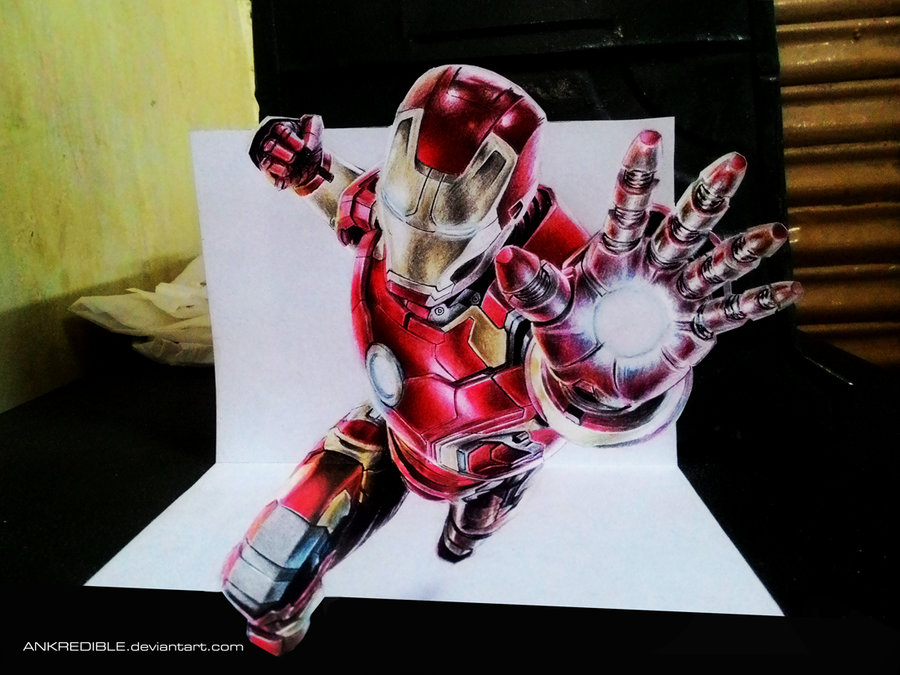 Ironman - 3D drawing by Ankredible