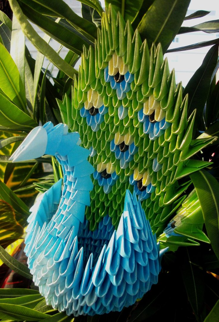 Peacock - 3D Origami by SophieEkard