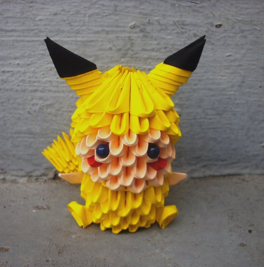 Pikachu child - 3D origami by SophieEkard