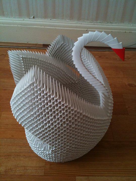 Swan- 3D Origami Model 2 by UNSJN