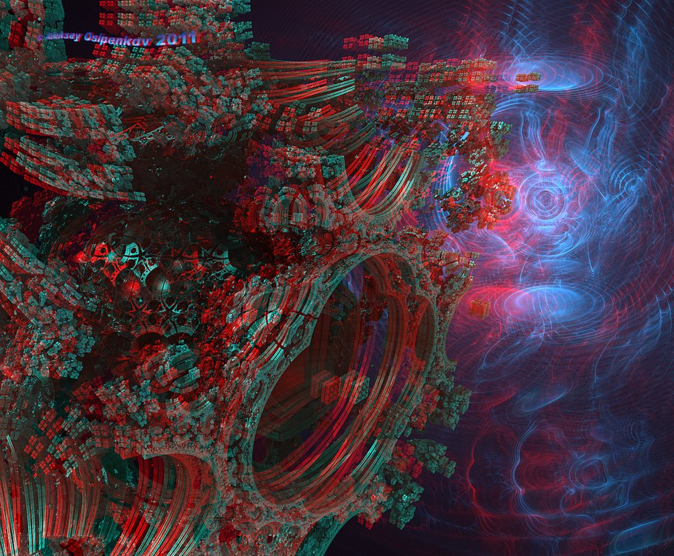 Wormhole Anaglyph 3D Stereo by Osipenkov